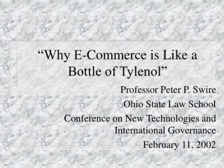 """Why E-Commerce is Like a Bottle of Tylenol"""