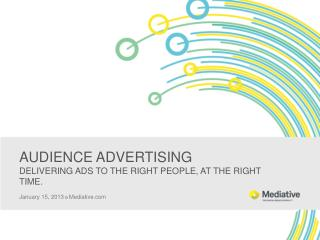 AUDIENCE ADVERTISING DELIVERING ADS TO THE RIGHT PEOPLE, AT THE RIGHT TIME.