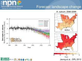 Forecast landscape change