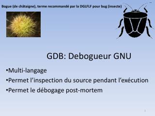 GDB:  Debogueur  GNU