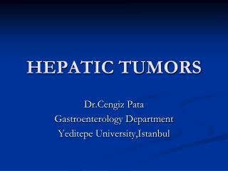 HEPATIC TUMORS