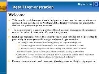 Retail Demonstration