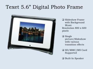 "Texet 5.6"" Digital Photo Frame"