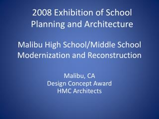 Malibu High School/Middle School Modernization and Reconstruction