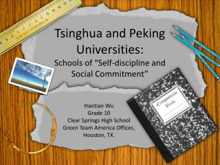 "Tsinghua and Peking Universities: Schools of ""Self-discipline and Social Commitment"""