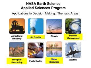 NASA Earth Science Applied Sciences Program