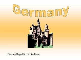 Germany Bundes Republic Deutschland Germany is located in ...