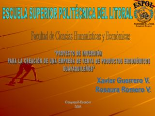 ESCUELA SUPERIOR POLIT�CNICA DEL LITORAL