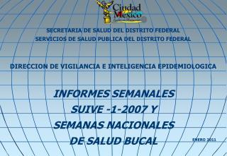 SECRETARIA DE SALUD DEL DISTRITO FEDERAL SERVICIOS DE SALUD PUBLICA DEL DISTRITO FEDERAL