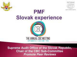 PMF  Slovak  experience
