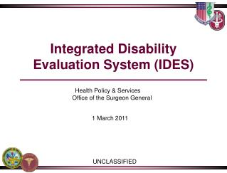 Integrated Disability Evaluation System IDES
