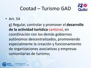 Cootad  – Turismo  GAD