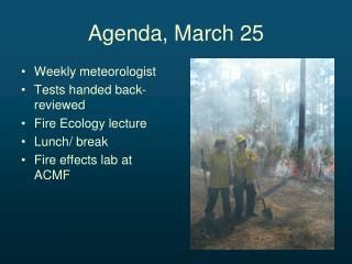Agenda, March 25