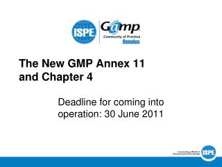 The New GMP Annex 11  and Chapter 4