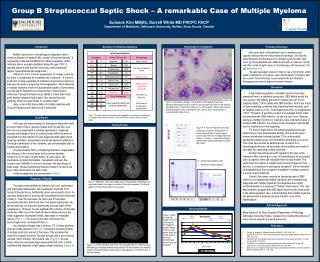Group B Streptococcal Septic Shock – A remarkable Case of Multiple Myeloma
