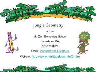 Joe E. Hart Mt. Zion Elementary School Jonesboro, GA 678-378-8229 Email:   jhart@clayton.k12.ga