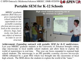 C-SPIN Outreach, Oklahoma/Arkansas MRSEC, DMR-0520550