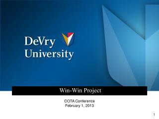 Win-Win Project