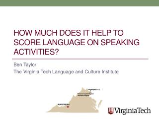 How Much Does It Help to Score Language on Speaking Activities ?