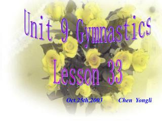 Unit 9 Gymnastics Lesson 33