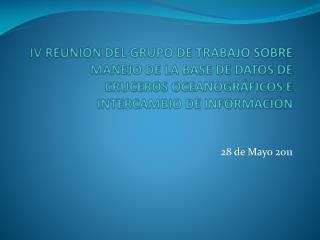 28 de Mayo 2011