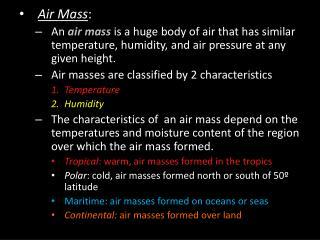 Air Mass :
