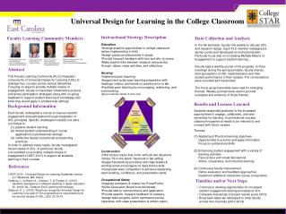 Universal Design for Learning in the College Classroom