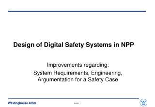 Design of Digital Safety Systems in NPP