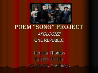 "Poem ""song"" Project"