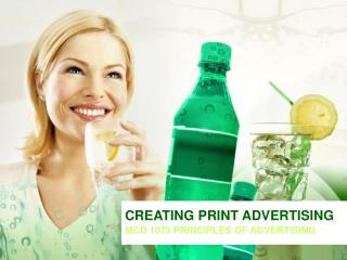 CREATING PRINT ADVERTISING