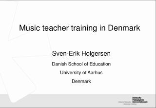Music teacher training in Denmark