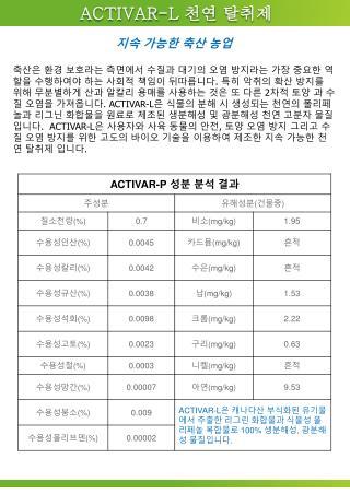 ACTIVAR-L  천연 탈취제