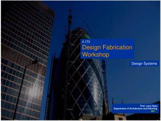 4.173 Design Fabrication Workshop