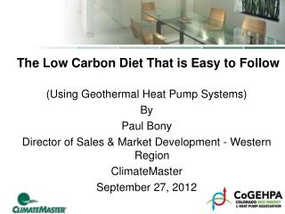 The Low Carbon Diet That is Easy to Follow