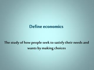 Define economics