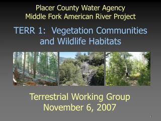 Placer County Water Agency Middle Fork American River Project