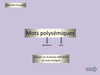 Mots polysémiques