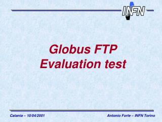 Globus FTP Evaluation test