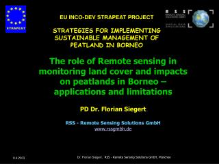 EU INCO-DEV STRAPEAT PROJECT