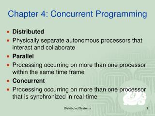 Chapter 4: Concurrent Programming
