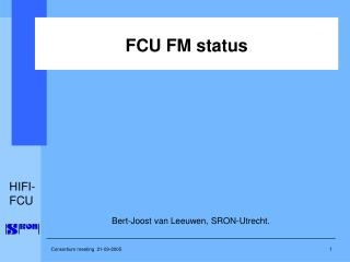 FCU FM status