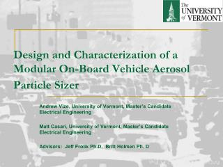 Design and Characterization of a Modular On-Board Vehicle Aerosol Particle Sizer