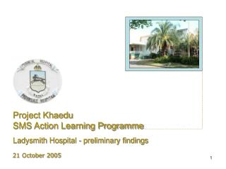 Project Khaedu SMS Action Learning Programme