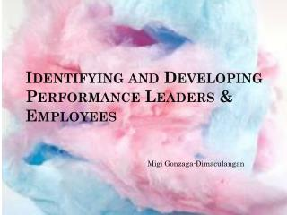 Identifying and Developing Performance Leaders & Employees