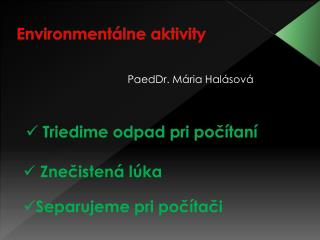 Environmentálne aktivity