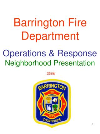 Barrington Fire Department