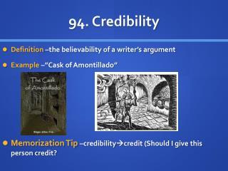 94 . Credibility