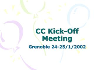 CC Kick-Off Meeting