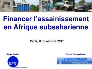 Financer l'assainissement en Afrique subsaharienne