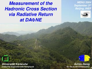 Measurement of the  Hadronic Cross Section via Radiative Return at DA F NE